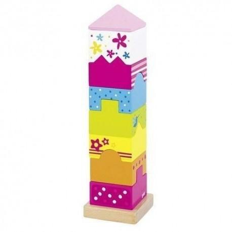 Goki - 58542 - Drewniana Układanka - Wieża