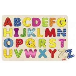 GOKI Drewniane Puzzle ALFABET 57672
