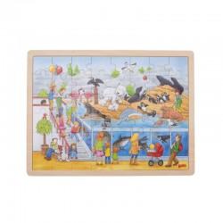 GOKI Drewniane Puzzle WIZYTA W ZOO 57744