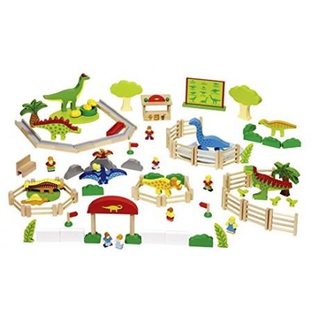 Goki - 58645 - Drewniany Park Dinozaurów