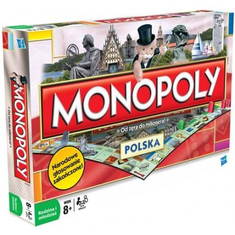 Hasbro - 01610 - Gra Logiczna - Monopoly Polska - Od Zera do Milionera
