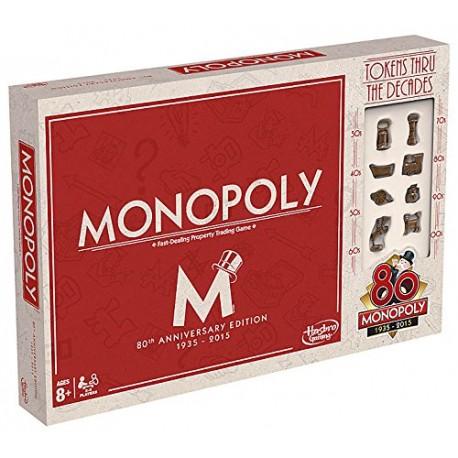 Hasbro - B0622 - Gra Logiczna - Monopoly' 80 - 1935 - 2015 - Edycja Limitowana