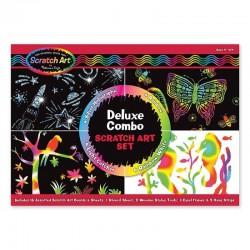 MELISSA & DOUG 15981 - Zdrapki Scratch Art Tęcza i Hologram - ZESTAW DELUX