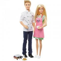 MATTEL Zestaw Lalka Barbie i Ken KUCHNIA FHP64