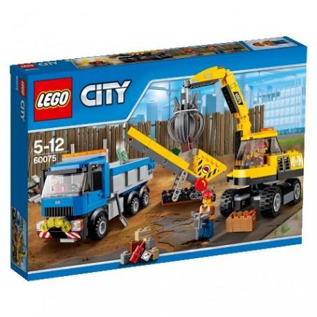 LEGO CITY 60075 Rozbiórka - Koparka i Ciężarówka NOWOŚĆ 2015