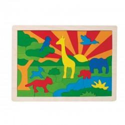 GOKI Drewniane Puzzle DŻUNGLA 57990
