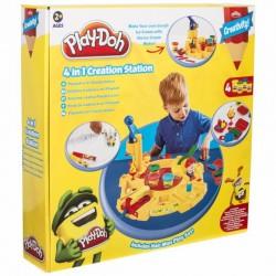PLAY-DOH Creativity Zestaw Ciastolina i Akcesoria KREATYWNY STOLIK 4w1 PLD4148