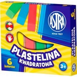 ASTRA 30521 - Masa Plastyczna - Plastelina KWADRATOWA 6 Kolorów