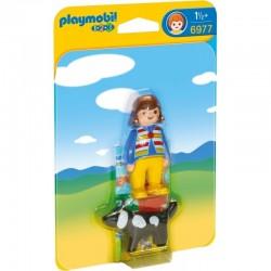 PLAYMOBIL 6977 Playmobil 1.2.3 DZIEWCZYNKA Z PSEM