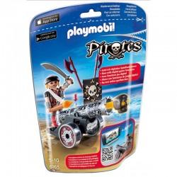 PLAYMOBIL PIRATES 6165 Czarna Armata z Aplikacją i Kapitanem Piratów