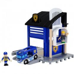BRIO Zestaw do Kolejki Drewnianej POSTERUNEK POLICJI 33813
