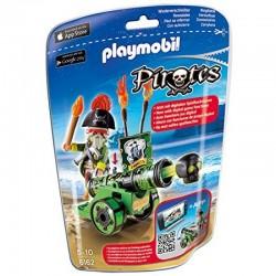 PLAYMOBIL PIRATES 6162 Zielona Armata z Aplikacją i Kapitanem Piratów
