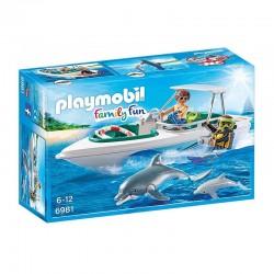 PLAYMOBIL 6981 Family Fun NURKOWIE Z MOTORÓWKĄ