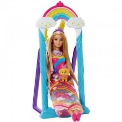 MATTEL Barbie w Krainie Dreamtopia HUŚTAWKA KSIĘŻNICZKI FJD06