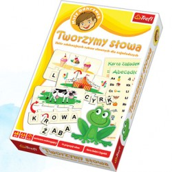 Trefl - 01124 - Mały Odkrywca - Gra Edukacyjna - Zabawy Edukacyjne - Tworzymy Słowa