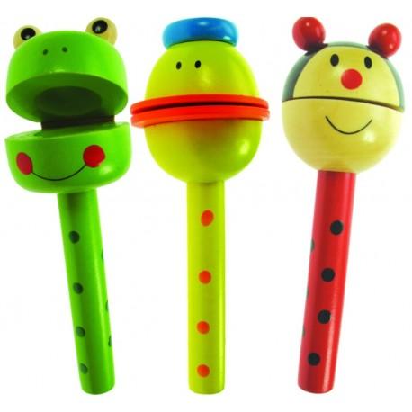 Bigjigs Toys - BJ119 - Drewniane Kołatki - Zwierzęta
