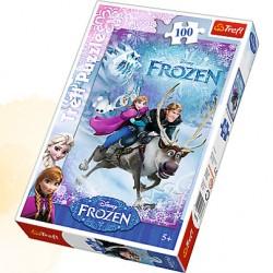 TREFL Puzzle 100 FROZEN KRAINA LODU 16273