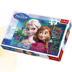 TREFL Puzzle 100 KRAINA LODU ELSA I ANNA 16255