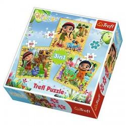 TREFL Puzzle 3 w 1 WISSPER WSPÓLNE PODRÓŻE 34834