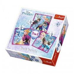TREFL Puzzle 3 w 1 KRAINA LODU ZIMOWA MAGIA 34832