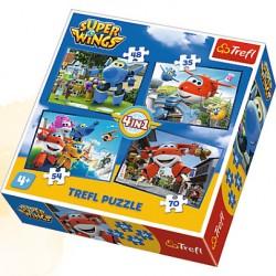TREFL Puzzle 4 w 1 ODLOTOWA PACZKA SUPER WINGS 34280