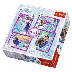 TREFL Puzzle 4 w 1 KRAINA LODU ZIMOWE SZALEŃSTWO 34294
