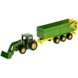 SIKU FARMER Rolnicze Pojazdy Metalowe 1:87 Traktor z Przyczepą JOHN DEERE 1843