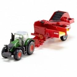 SIKU FARMER 1808 - Rolnicze Pojazdy Metalowe 1:87 - Traktor z Kombajnem do Ziemniaków - GRIMME SE 260