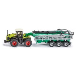 SIKU FARMER 1827 - Rolnicze Pojazdy Metalowe 1:87 - Traktor z Cysterną - CLAAS XERION