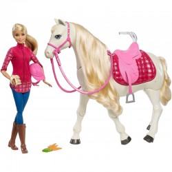 MATTEL Barbie DreamHorse Lalka z Interaktywnym Koniem FRV36