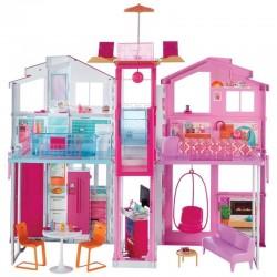 MATTEL Domek Miejski Lalki Barbie z Wyposażeniem DLY32