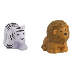 Fisher-Price - BFT84 - Little People - Zwierzęta Tropikalne - Lew i Biały Tygrys