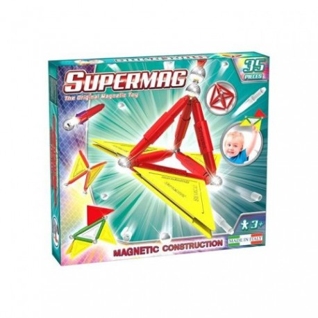 SUPERMAG Magnetyczne Klocki Konstrukcyjne 35 Elementów 0150