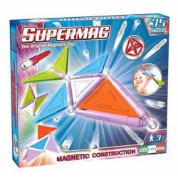 SUPERMAG Magnetyczne Klocki Konstrukcyjne 35 Elementów NEON 0154