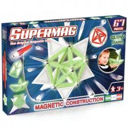 SUPERMAG Magnetyczne Klocki Konstrukcyjne 67 Elementów ŚWIECĄCE W CIEMNOŚCI 0159
