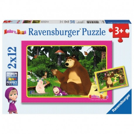 RAVENSBURGER Puzzle 2x12 El. MASZA I NIEDŹWIEDŹ 075850