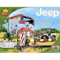 COBI MAŁA ARMIA 24320 Jeep - Wilys w Kwaterze Głównej