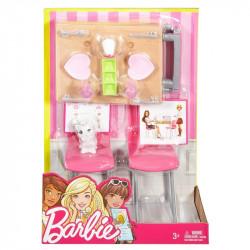 MATTEL Lalka Barbie MEBELKI DO JADALNI DVX45
