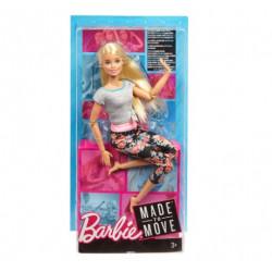 MATTEL Lalka Barbie Made To Move KWIECISTA BLONDYNKA FTG81