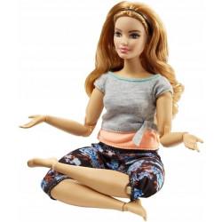 MATTEL Lalka Barbie Made To Move KWIECISTA CIEMNA BLONDYNKA FTG84