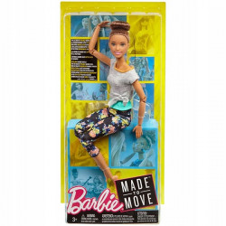 MATTEL Lalka Barbie Made To Move KWIECISTA SZATYNKA FTG82
