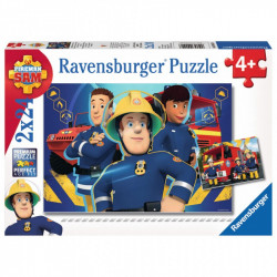 RAVENSBURGER Puzzle 2x24 STRAŻAK SAM NIESIE POMOC 090426