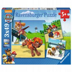 RAVENSBURGER Puzzle 3x49 PSI PATROL ZESPÓŁ NA CZTERECH ŁAPACH 092390