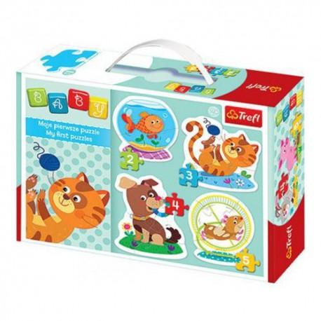Trefl - 36053 - Moje Pierwsze Puzzle - Puzzle Baby - Pupile