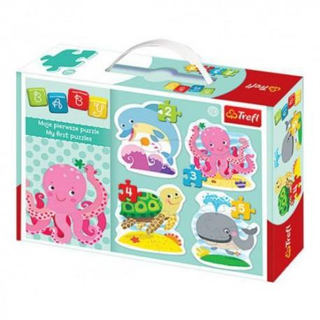 Trefl - 36055 - Moje Pierwsze Puzzle - Puzzle Baby - W Głębinach