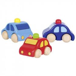 GOKI Drewniany samochodzik w trzech kolorach 55011