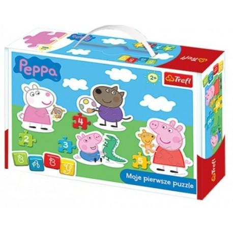 Trefl - 36061 - Moje Pierwsze Puzzle - Puzzle Baby - Peppa