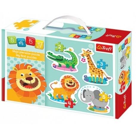 Trefl - 36054 - Moje Pierwsze Puzzle - Puzzle Baby - Safari