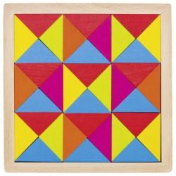 Goki Drewniane Puzzle Układanka MOZAIKA TĘCZA 58586