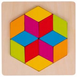 Goki Drewniane Puzzle Układanka MOZAIKA DIAMENT 57736